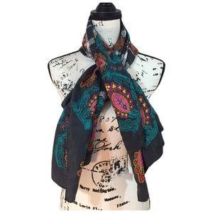 Diane Von Furstenberg 100% Silk Paisley Scarf
